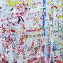 """""""possibile paesaggio urbano"""" colori acrilici ed altro sparsi e spersi su carta usata per non sporcare... cm67x90"""