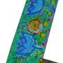 """""""cornicetta per l'estate""""acrilicie matita colorata su legno- part. cm17,5x14"""