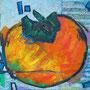 """""""caco '11"""" acrilico, carboncino e gessi colorati su tela (esercizio) cm30x25"""