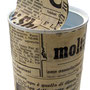"""""""barattolo di latta per..."""" colla e carta giornale cm15,5x7,5"""