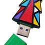 """""""colori per chiavetta usb in legno""""acrilici su legnocm7x3(fronte e retro)"""