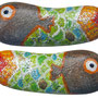 """""""pesce di Misano"""" acrilici su sassetto cm3,5x1"""