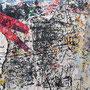 """""""tracce di rosso"""" ritagli di carta ass. su legno cm18x24"""