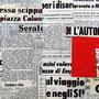 """""""quotidiano"""" esercizi. Collage di vecchi giornali su tela con inserti in acrilici cm50x20"""