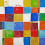 """""""colore a scacchi 2"""" acrilico su gesso su pannello di cartone cm140x90"""