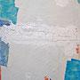 """""""fiori di gesso"""" inserti di tela con gesso su tela cm60x90"""