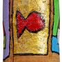 """""""Tappo per Laurea"""" acrilico su sughero (elementi di Case lungo il Fiume) cm4x2,5"""