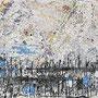 """""""Fiume in secca"""" acrilico e carboncino su asse di legno cm18,5x79"""