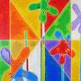 """""""fiori a dicembre""""acrilici su pannello di masonite per cornici a vistacm30x40"""