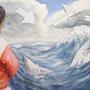 Le Vent Nous Portera, 2012, 50x66 (49x62), Farbstift + Aquarell / Aquarellpapier