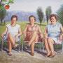 Die drei Grazien, 2011, 50x64 (49x62), Farbstift + Aquarell / Aquarellpapier