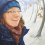 Schnee am Hülser Berg, 2013, 50x66 (49x62), Farbstift + Aquarell / Aquarellpapier