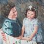 Mutter und Tochter, 2018, 66x50 (62x49), Farbstift + Aquarell / Aquarellpapier
