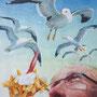 Der  Himmel über Schevenigen, 2017, 66x50 (62x49), Farbstift + Aquarell / Aquarellpapier