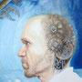 Mechanical Thoughts, 2014, 66x50 (62x49), Farbstift + Aquarell / Aquarellpapier