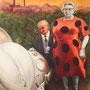 Das Glühwürmchen und er Marienkäfer, 2012, 50x66 (49x62), Farbstift + Aquarell / Aquarellpapier