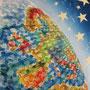 Unsere bunte Welt, 2015, 66x50 (62x49), Farbstift + Aquarell / Aquarellpapier