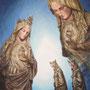 Die Madonna aus dem Braunkohlerevier, 2014, 66x50 (62x49), Farbstift + Aquarell / Aquarellpapier