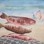 ohne Titel, 2016, 50x66 (49x62), Farbstift + Aquarell / Aquarellpapier