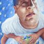 I Love  The World, 2015, 66x50 (62x49), Farbstift + Aquarell / Aquarellpapier