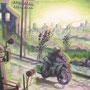 Apocalyptical Rider, 2011, 50x64 (49x62), Farbstift + Aquarell / Aquarellpapier