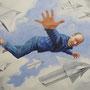 Komm flieg mir mir…, 2012, 50x66 (49x62), Farbstift + Aquarell / Aquarellpapier