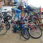 Gespendete Fahrräder