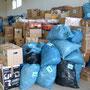 Bereits sortierte und nach Empfängern sortierte Hilfsgüter