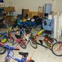 Ein Teil der gespendeten Fahrräder
