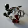 [ Ring&heart ] 2008   material; swarovski grass, pearl, brass