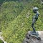 祖谷渓谷のしょんべん小僧像
