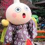 ひなまつりの「たわわちゃん」(京都タワーのマスコットキャラクター)