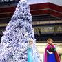 アナと雪の女王のツリー(グランフロント大阪「Snow & Ice Story」)2014年