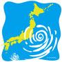 台風接近の日本列島