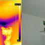 Ponte termico d'angolo all'incrocio fra solaio di copertura e pareti esterne