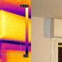 Ponte termico d'angolo fra solaio di copertura e parete e ponte termico di infisso