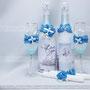 """Свадебный набор на заказ """"Венеция"""", свадебные бокалы для шампанского, две бутылки шампанского, две свечки."""