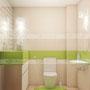 дизайн ванной комнаты Азори (Azori) Vento Light Мозаика зелый микс
