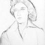Portrait d'une amie - circa 1964 - Fusain - 50 x 65 cm - ©Adagp Paris 2014