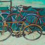 Les bicyclettes (Neuilly sur Seine) - 1949 - Hst - 89/130 - ©Adagp Paris 2014