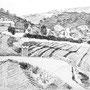 Village dans le Var - Encre de chine - circa 1985 - 24 x 32 cm - ©Adagp Paris 2014