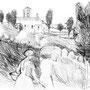 Retour des champs, Ariège - Encre de chine - 1958 - 28,5 x 39 cm - ©Adagp Paris 2014
