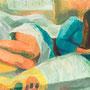 La liseuse allongée - circa 1972 - Hst - 81/116 - ©Adagp Paris 2014