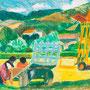 Travaux des champs en Aveyron (Le Cambon) - circa 1985 - 32,5/41 - ©Adagp Paris 2014