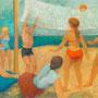 Volley-ball sur la plage (Saint Cyprien, P.O.) - 1956-57 - 130/195 - ©Adagp, Paris 2014