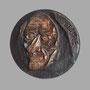 Voltaire (face) - Bronze - 70 x 70 mm - ©Adagp Paris 2014