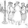 Camprodon, Espagne - Encre de chine - 1958 - 27 x 36,5 cm - ©Adagp Paris 2014