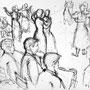 Le bal - Encre de chine - 1956 - 23,5 x 32 cm - ©Adagp Paris 2014