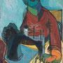 Femme à la machine à coudre - 1946-47 - Hst - 100/73 - ©Adagp Paris 2014