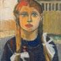 Jeune fille aux nattes - circa 1952 - Hst - 65/50 - ©Adagp Paris 2014